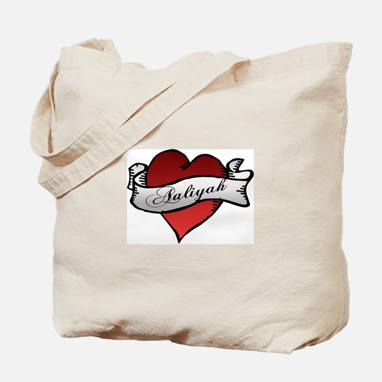 Aaliyah Heart Tattoo Tote Bag