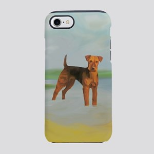 Terrier standing in River land iPhone 7 Tough Case