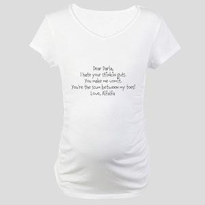 Alfalfa love note Maternity T-Shirt