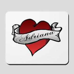 Adriana Heart Tattoo Mousepad