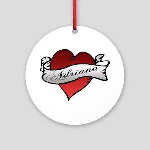 Adriana Heart Tattoo Ornament (Round)
