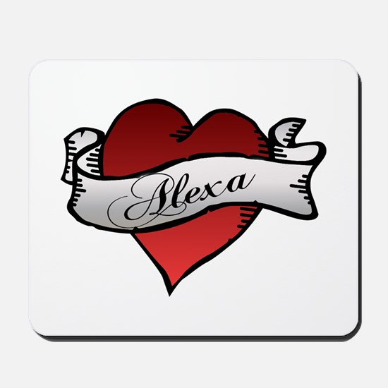 Alexa Heart tattoo Mousepad