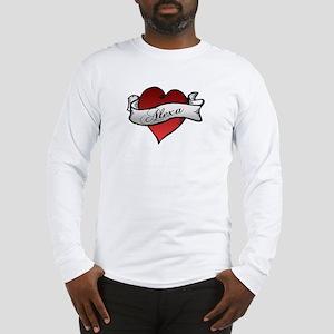 Alexa Heart tattoo Long Sleeve T-Shirt