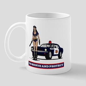 POLICE GIRL 1 Mug