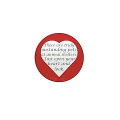 Open Your Heart Mini Button
