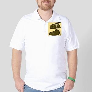 Black Cape Golden Hue Beardsl Golf Shirt