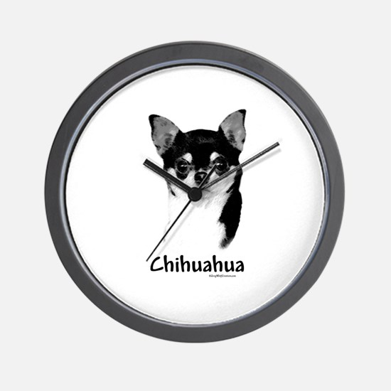 Chihuahua Charcoal Wall Clock