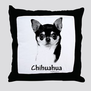 Chihuahua Charcoal Throw Pillow