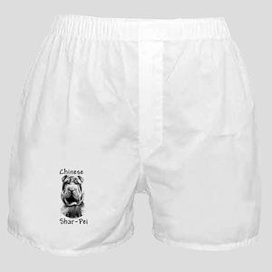 Shar Pei Charcoal Boxer Shorts