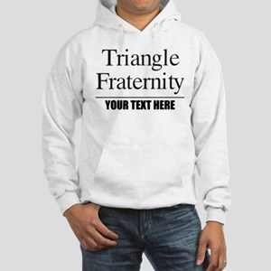 Triangle Fraternity Personalized Hooded Sweatshirt