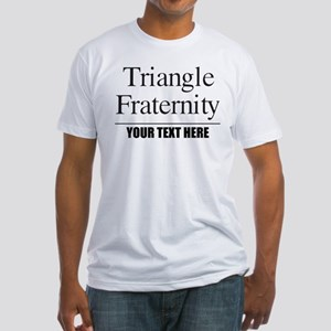 Triangle Fraternity Personalized Fitted T-Shirt