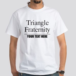 Triangle Fraternity Personalized White T-Shirt