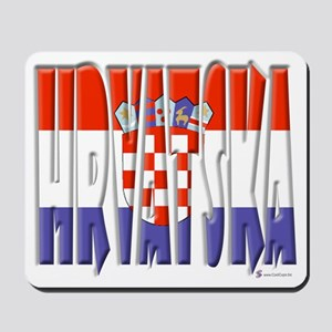 Word Art Flag of Hrvatska Mousepad