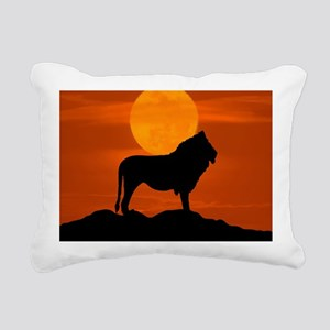 Lion at sunset Rectangular Canvas Pillow