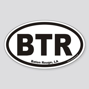 Baton Rouge BTR Euro Oval Sticker