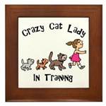 Crazy Cat Lady In Training Framed Tile