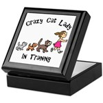 Crazy Cat Lady In Training Keepsake Box