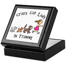 Crazy Cat Lady In Training Keepsake Box