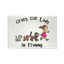 Crazy Cat Lady In Training Rectangle Magnet
