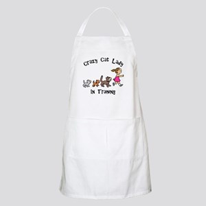 Crazy Cat Lady In Training BBQ Apron
