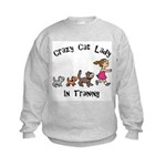 Crazy Cat Lady In Training Kids Sweatshirt