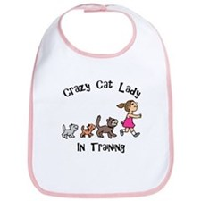 Crazy Cat Lady In Training Bib