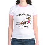 Crazy Cat Lady In Training Jr. Ringer T-Shirt