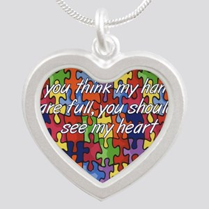Autism Hands full, See my heart Necklaces