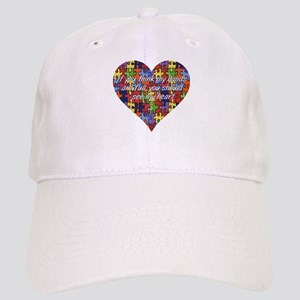 Autism Hands full, See my heart Baseball Cap
