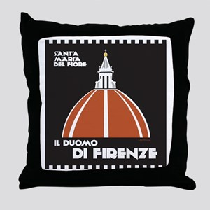 Florence Dome Black Throw Pillow