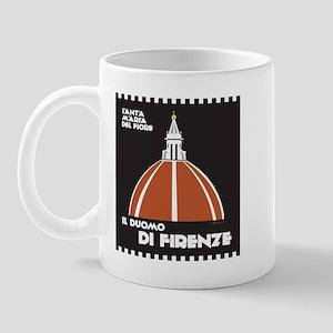Florence Dome Black Mug