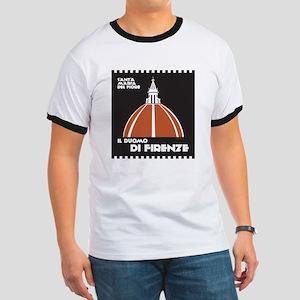 Florence Dome Black Ringer T