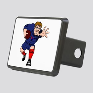 French Rugby Player Rectangular Hitch Cover
