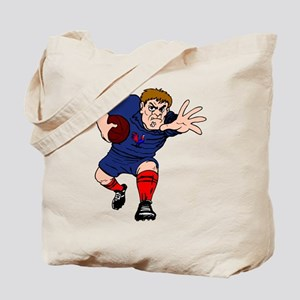French Rugby Player Tote Bag
