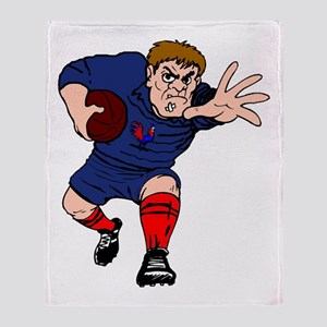 French Rugby Player Throw Blanket