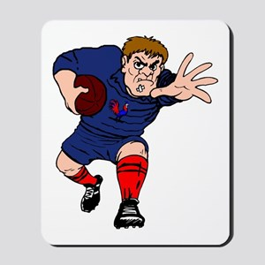 French Rugby Player Mousepad
