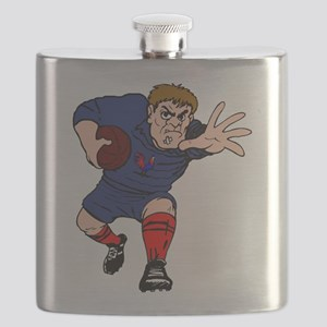 French Rugby Player Flask