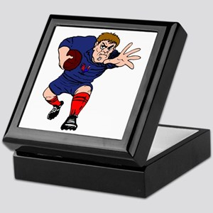 French Rugby Player Keepsake Box