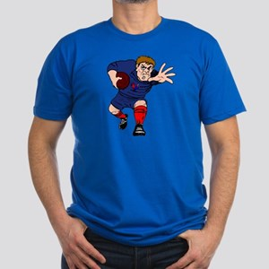 French Rugby Player Men's Fitted T-Shirt (dark)