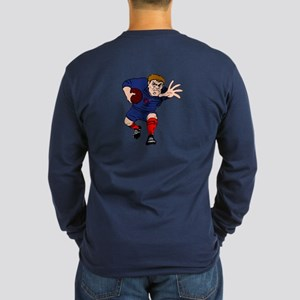 French Rugby Player Long Sleeve Dark T-Shirt