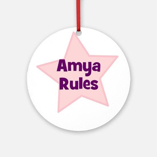 Amya Rules Ornament (Round)