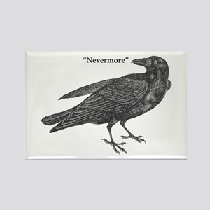 Nevermore Raven Rectangle Magnet