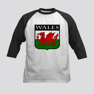 Wales Coat of Arms Kids Baseball Jersey