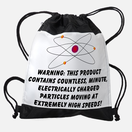 Countless Charged Particles black.p Drawstring Bag