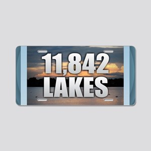 Minnesota Lakes Aluminum License Plate