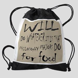 Homeless Philosophy Major 11x9 Drawstring Bag