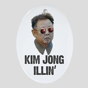 Kim Jong illin Oval Ornament