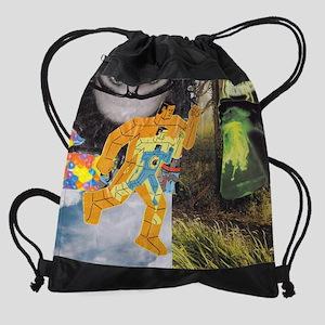 Atomic man Drawstring Bag