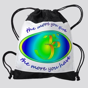 The more y give..jpg Drawstring Bag
