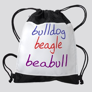 beabull_black Drawstring Bag